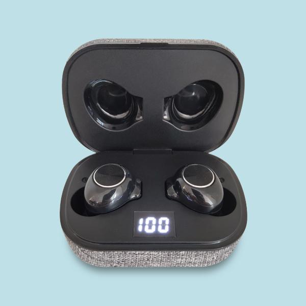 5.0 tws headphones LCD digital display custom earbuds wireless with pixart